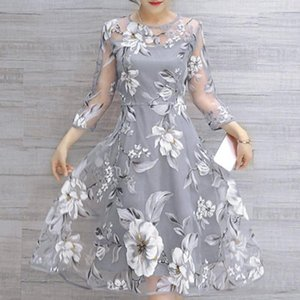 Lanxirui Dress New High Quality Girls Summer Organza Floral Print Wedding Party Dress Ball Prom Gown Women Ap24