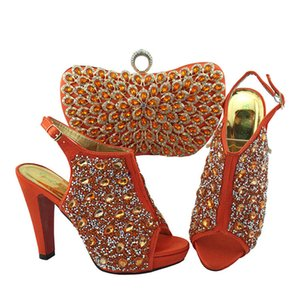 2019 High Quality African Wedding Party Dress High Heel Shoes And Matching Bags