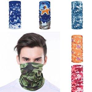 Gesichts-Cover Outdoor Sports MASK Turban Schal Fahrradhalsrohr Bandana Gesicht Staub Drucken Kopftuch Sonnenschutz Ring Wraps
