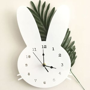 Nordic Head Shape Wall Clock Cute Timepiece Mute Horologe Decor For Kids Bedroom Home 72XF