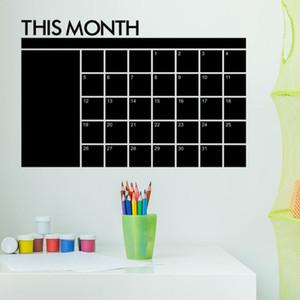 Questo Calendario Mese Lavagna Adesivi Piano adesivi murali mensile lavagna muro Adesivi educazione della prima infanzia 60 * 92 centimetri Kid Room Decor