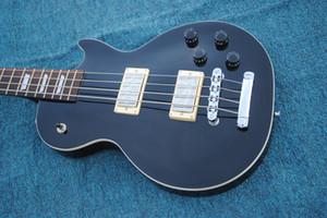 Özel Üretici 4 Dizeleri Elektrik Bas Gitar, Siyah, Krom Donanım En Kaliteli LP Bas Gitar, Ücretsiz Kargo