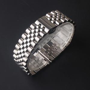 aço de boa qualidade pulseiras de relógio inoxidável polido e fosco metálica de prata pulseira de 12 milímetros 13 milímetros 15 milímetros 17 milímetros 18 milímetros 19 milímetros 20 milímetros 21 milímetros 22 milímetros