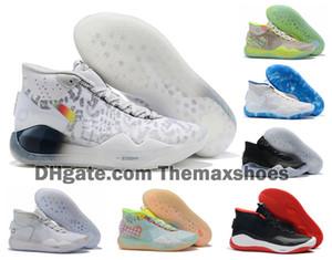 Sıcak Boys Çocuk Kevin Durant KD 12 12S Erkekler KD12 XII Eğitmenler Yakınlaştırma Yıldız Kızlar Kadınlar Basketbol Ayakkabı Elit Spor Sneakers 36-40
