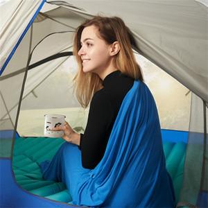 Naturehike NH Tourisme Hôtel Pour Adultes Septum Feuilles Bleu Couleur Doux Enveloppe Type Maman Camping Sacs De Couchage Vente Chaude 125hl E1