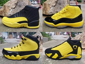 2019 Hombres 9 11 12 14 Zapatillas de baloncesto Bumblebee Amarillo Negro Pack Diseñador Retro Zapatillas Cestas 11s 5s des Chaussures Schuhe Talla 13