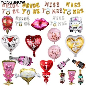 Event & Party Ballons & Accessories Bride Miss To Mrs Love Heart Car Wine Bottle Shape Foil Inflatable Helium Air Balloon Wedding