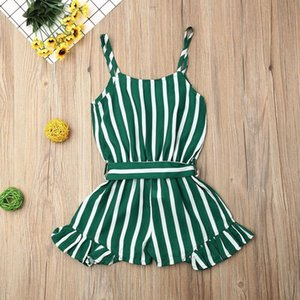 Summer Toddler Kid Baby Girl Clothes Sleeveless Stripe Romper Sling Jumpsuit Summer Cute Outfit