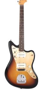 Top Sale 1959 Jazzmaster Journeyman Desbotou 3-Tone Sunburst Guitarra Electrica Large Larlar Pickups, Alder Body, Amber Switch Cap, Vintage Tuners