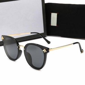 Designer óculos polarizados Womens Luxo Mens Moda de Nova abelhinha vidros de sol UV400 óculos de sol com caso e Box