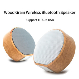 High Sound Quality Wood Grain Loudspeaker Portable Mini Bluetooth Wireless Speaker Subwoofers Stereo Bass Support TF Card Voice Calls MP3