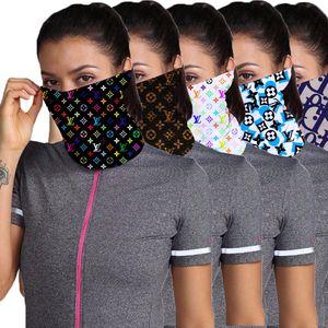 Máscaras diseños unisex al aire libre de la bicicleta de la media cara de ciclo Pañuelos Bufanda de lujo de la máscara de la venda Headwear Mutilfunction cabeza bufandas