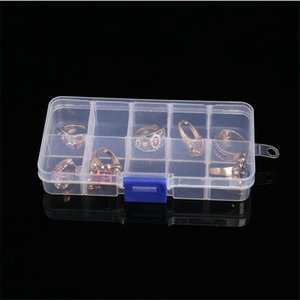 10 Compartment Clear Plastic Small Jewelry Organizer PB8312b 10 compartment clear plastic jewelry organizer 10 Compartment Clear gLvMO