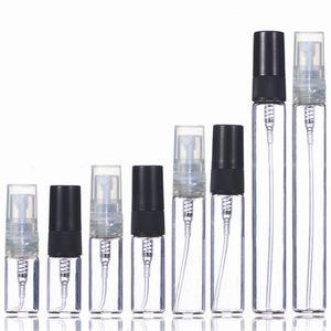 2ML 3 мл 5 мл 10 мл пластиковый / стеклянный брызг тумана спрей флакон парфюмерии небольшой распылитель Parfume Travel Forillable образец флаконов