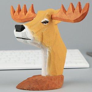 Gifts Desktop Home Display Stand Decorative Cartoon Office Organizer Wooden Necklace Eyeglasses Holder Animal Figurine Sunglasses Frames Eye