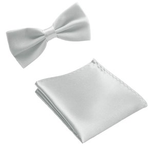 MENS ADULT 2 pcs Set Bowties Colorful Business Handkerchief Hankies Bowties Party Groom Pocket Tie NEW Gift FA152