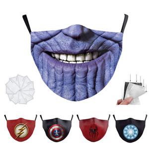 Мстители Человек-паук флеш Танос супер герой взрослых дизайнер роскошный маска для лица партии Cosplay Щит многоразовый Dust ветрозащитный хлопка Маски