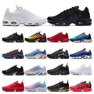 nike air max tn 2019 Top quality running shoes para homens triplo branco preto Volt Color Flip HYPER CRIMSON moda Athletic sports sneakers formadores tamanho 40-46