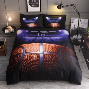 3D Baseketball Field Pattern Duvet Cover Sets for Home and Hotel Bedding Sets Personality Printing Decor Children Bedding Cover Sheet Set