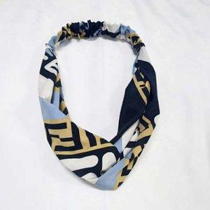 The headscarf of the woman flower and hummingbird printed luxury silk cross hair band elastic 4-color headscarf