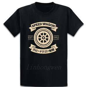 Speed Wagon Foundation T Shirt Letters S-5xl Anti-Wrinkle Print Summer Style Cotton Basic Formal Shirt