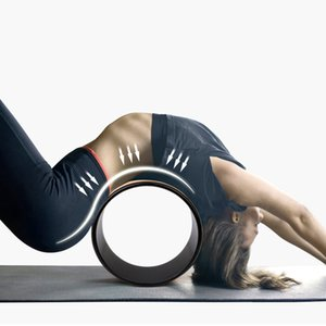 Circles Yoga Wheel Strong Comfortable Dharma Yoga Prop Wheel for Inversions Backbends Back Pain Stretching Balance Accessory
