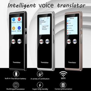 Nuovi T8S portatile Voice Translator Wifi Tempo reale istantaneo 51 Lingue touch screen incorporato in1380mAH Batteria traduzione dei Trav