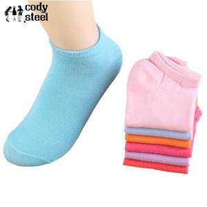 20pieces = 10pair / lot Kadın Kısa Çorap Casual Sevimli Şeker Renkler Peluş Tekne Çorap Bayan Moda Sanat Çorap Görünmez Kız İçin