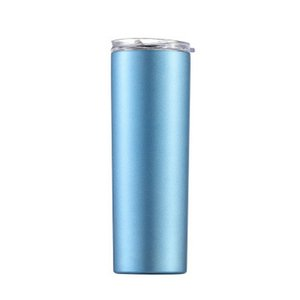 2020 Skinny Tumblers Stainless Steel Drinking Cup With Straw Double Wall Vacuum Insulation Cup Straight Portable Coffee Mug A04 From home003