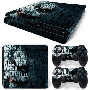 Fanstore Skins Sticker Vinil Wrap Cover O Coringa para Playstation PS4 Slim Console e 2 Controle Remoto Cool Design