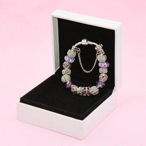 Borboleta temperamento pulseira de Pandora prateado senhoras DIY de contas pulseira de alta qualidade com frete grátis caixa original