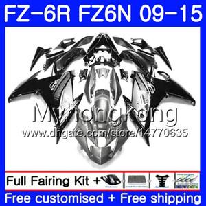 Corpo per YAMAHA FZ6N FZ-6R Argento nero caldo 2009 2010 2011 2012 2013 2014 2015 239HM.36 FZ 6R FZ6 R FZ 6N FZ6R 09 10 11 12 13 14 15 Carenature