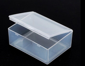 5.3*4*1.9CM Mini Hard Clear Plastic Jewelry Necklace Craft Beads Makeup Storage Box Case   Organizer   Holder   Container