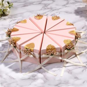 Amawill 50 teile / los Kuchen Stil Dreieck Hochzeit Pralinenschachtel Geburtstagsfeier Baby Shower Triangle Schokolade Geschenkboxen Gastgeschenke 8D