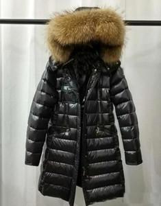 2020 Designer Outerwear Jackets Women Winter Brand Long Style Warm Black down Jacket European Fashion Duck Down Coat Hooded Down Parkas