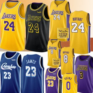 Bryant para hombrecamiseta de Los ÁngelesLakers Jersey NCAA LeBron James 23 Anthony Davis Kyle 3 0 Kuzma jerseys del baloncesto