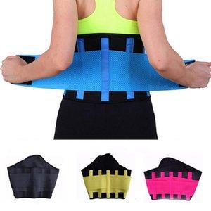 Mujeres de la aptitud de Cintura de la cintura del condensador de ajuste del corsé ajustable Ventilar la pérdida de la panza Trainer cinturón de peso que adelgaza la correa IIA132