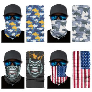 Wholesale 600 Pcs Lot Outdoor Cycling Running Hiking Magic Headband Sport Turbans Cycling Skull Scarf Scarves Literary#487