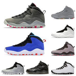 10 Herren Basketballschuhe Tinker Cement Westbrook Desert Camo Ich bin zurück Chicago Dark Smoke Grey 10s Herren Sport Sneakers Größe 7-13