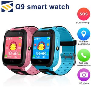 Assista Smart For Kids Q9 Crianças Anti-perdidos inteligentes Relógios Smartwatch LBS Rastreador Watchs SOS Chamada para IOS Android melhor presente para as crianças