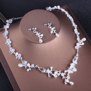 Charming Bridal Jewelry 2 Pieces Sets Necklace Earrings Bridal Jewelry Bridal Accessories Wedding Jewelry T215034