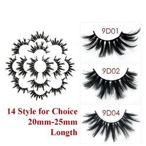 7 coppie 22-25mm 9D Faux visone ciglia finte lunghe ciglia trucco ciglia ciglia finte ciglia maquiagem estensione