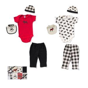 8PCS Boys Newborn Clothes Set 100% Cotton 0-6 Months Baby's Sets Gifts Box Layette For Boys Child
