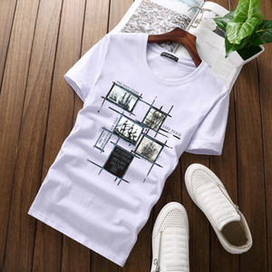 Wholesale Mens T Shirts Mens Clothing Luxury Shirt Fashion Shirt short Sleeve Crew Neck Cotton Brand Shirt for Men
