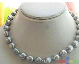 Бесплатная доставка @@ 3532 СЕРОГО BAROQUE FW КУЛЬТИВИРУЕМОЕ жемчужное ожерелье