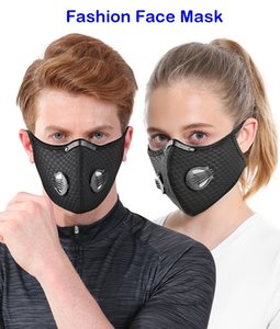 Wholesale Face Masks Fashion Activated carbon Mask Face Masks Windproof Breathable Sunscreen Outdoor Cycling Face Mask
