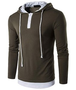 Men's Casual Slim Fit Long Sleeve Sweatshirt Hooded Hoodies with Tops Man Slim Male Tops Fashion Tracksuit EUROPE SIZE New