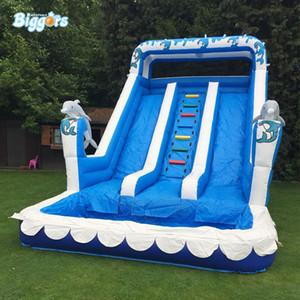 Escorrega de Água Nova engraçado Verão Jogos Parque PVC inflável piscina slide Com Blower