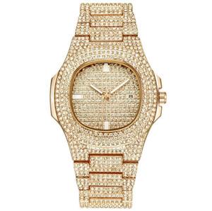 Diamonds New Orologio di Lusso Glide Bloqueio da bracelete homens cheios Relógios Mulheres Homens Orologio Relógio de pulso automático Orologi da Uomo