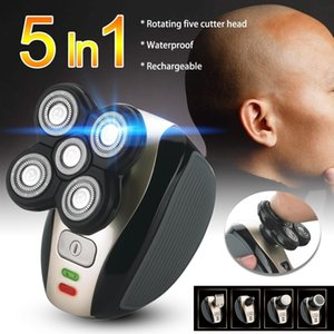 5Head 4D Electric Men Bald Shaver Razor Beard Cordless Hair Trimmer Clipper Groomer